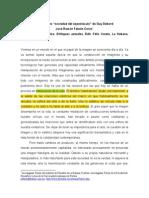 El concepto sociedad de espectáculo de Guy Debord - Estética, enfoques actuales