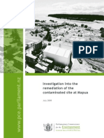 Investigation Into the Remediation of the Contaminated Site at Mapua