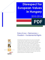 Disrespect for European Values in Hungary 2010-2014