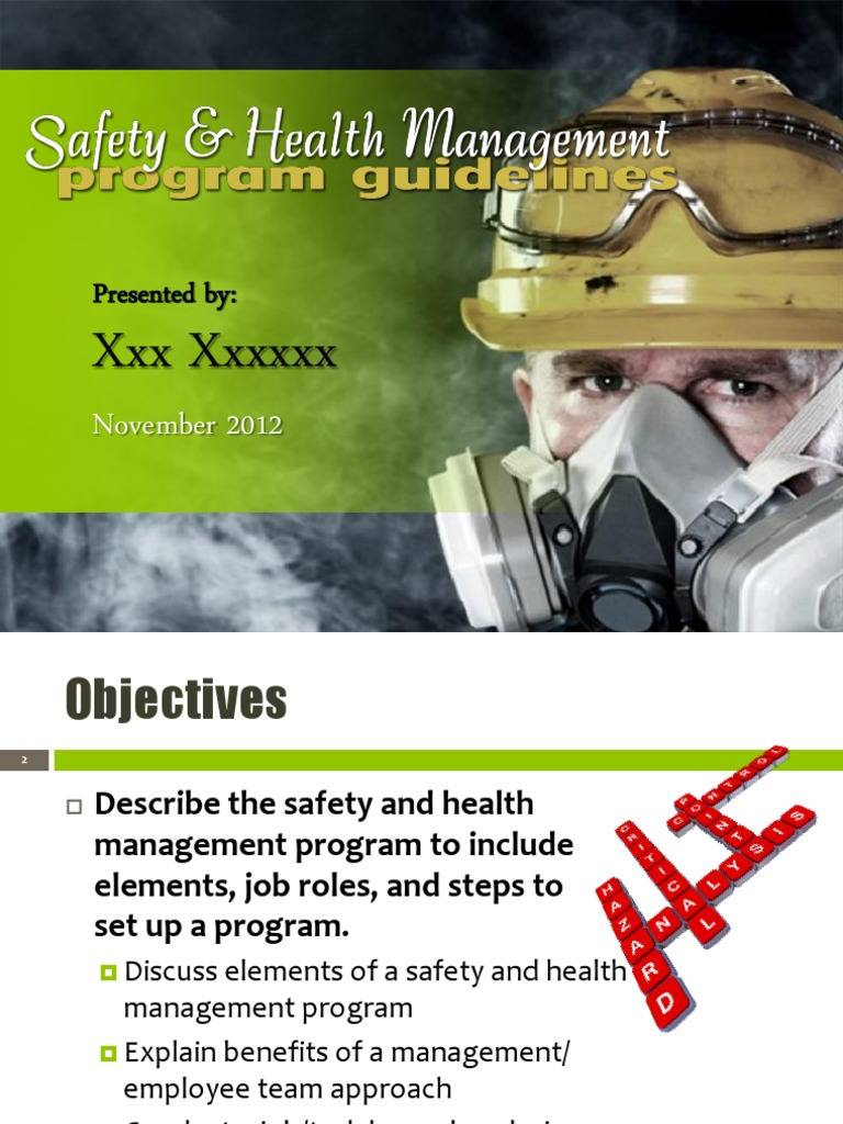 elements of safety The eight elements of the health & safety program: orientation & training new employees must be oriented to the hazards of the workplace and everyone.