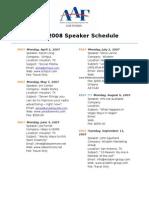 AAF Lake Charles Scheduled Speakers