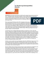 Peran UKM Dalam Mendorong Kekompetitifan Perekonomian Indonesia