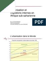 Urbanisation Et Migration Internes en Afrique Sub-saharienne
