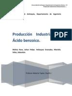 Estudio de Mercados Para El Producto Ácido Benzóico