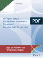 AANDC Departmental Performance Report
