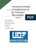 Controversias Derivadas Del Incumplimiento de Los Contratos Mercantiles