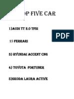 TOP FIVE CAR.docx