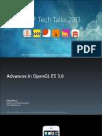 Advances in OpenGL ES 3 0