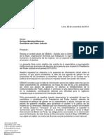 Carta Elección Presidente del Poder Judicial