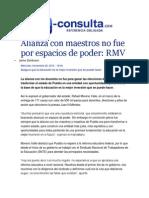 26-11-2014 E-consulta.com - Alianza Con Maestros No Fue Por Espacios de Poder, RMV