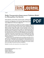 Public Transportation Improvement Validation Model for Metropolitan City Karachi