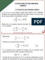 Sistemas Dinamicos de Primer Orden