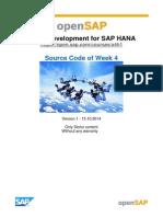 OpenSAP a4h1 Week 4 Source Code