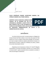 Informe Al Nuevo Texto Del Proyecto de Rd Por El Que Se Modifica El Rd1