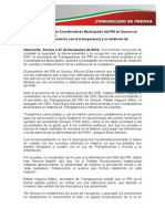 27-11-14 Toman Protesta Coordinadores Municipales Del PRI en Sonora en Transparencia