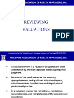 9 Reviewing Valuations
