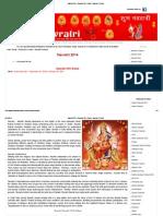 Navratri 2014- Navratri 2014 Dates- Navratri Festival
