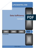Data Sufficiency Info and Test