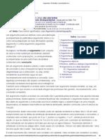 Argumento – Wikipédia, A Enciclopédia Livre