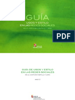 Guia Usos Redes Sociales Jcyl