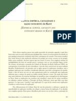 Ciência empírica , causalidade e razão suficiente em K ant