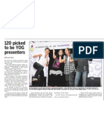 120 picked to be YOG presenters, 24 Oct 2009, Straits Times