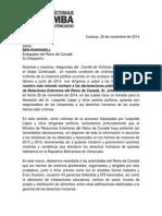 Carta a Embajada Canadá
