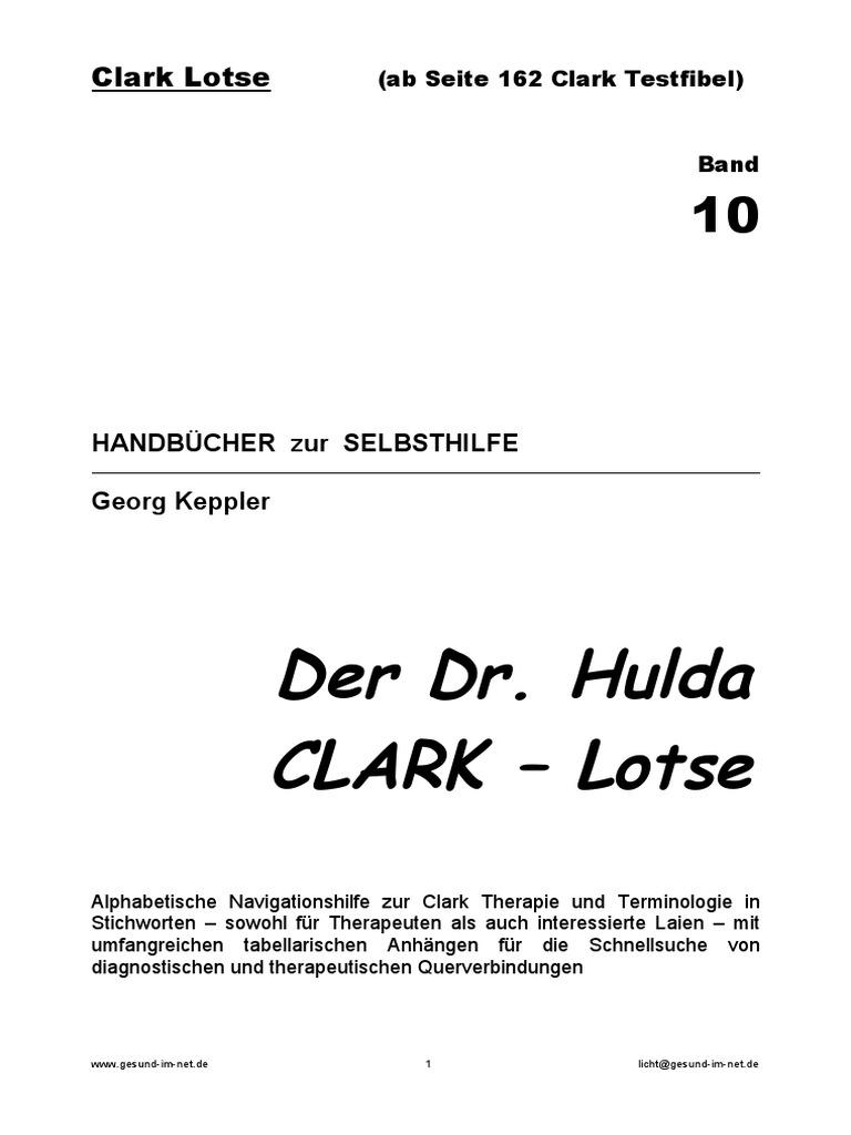 Clark Lotse Und Testfibel Proben Syncrometer