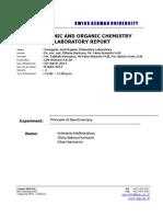 Principle of Spectroscopy - Lab Report