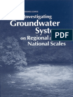 Committee on USGS Water Resources Research, Water Science and Technology Board, National Research Co Investigating Groundwater Systems on Regional and National Scales 2000