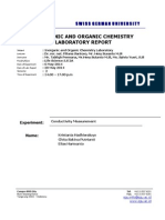 Conductivity Measurement Lab Report