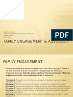 family engagment  advocacy