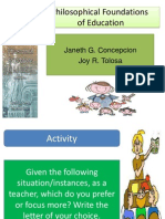 Copy of Philosophical Foundation of Education (1)