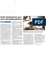 Social entrepreneurs now have networking platform, 21 Oct 2009, MyPaper