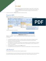 Funcion Excel MIN y MAX