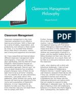 ed 312 - classroom management philosophy fnl