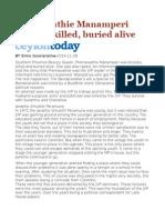 Premawathie Manamperi Brutally Killed, Buried Alive