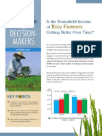 Is the Household Income of Rice Farmers Getting Better Over Time