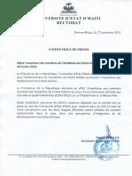 installation du Conseil des académiciens du créole haïtien le jeudi 4 décembre 2014