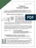 Normes Assurance Qualite