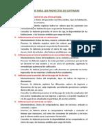 Requerimientos Para El Desarrollo de Los Proyectos de Software