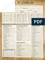 [ToC] Character Sheet Alternate