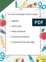 daily organization checklist