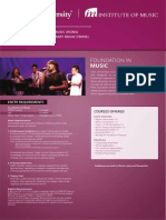 UCSI Music Brochues