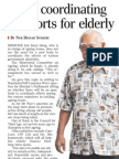 Panel coordinating all efforts for elderly, 21 Oct 2009, Straits Times