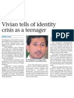 Vivian tells of identity crisis as a teenager, 19 Oct 2008, Sunday Times