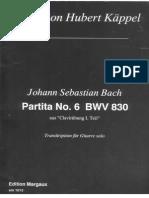 BWV 830, Guitar