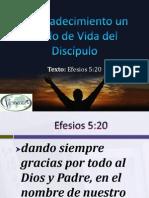 El Agradecimiento un estilo de Vida del Discípulo