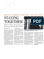 MCYS committed to supporting Singaporeans through trying times, 20 May 2009, Straits Times