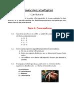 Interacciones ecológicas- Cuestionario